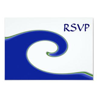 Tarjetas de RSVP de la onda de marea Invitaciones Personalizada