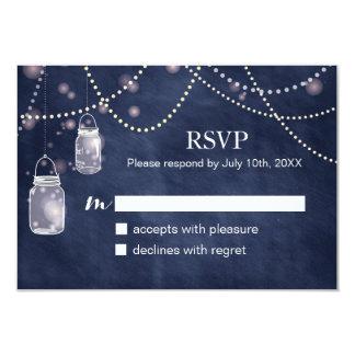 """Tarjetas de RSVP de la pizarra de los azules Invitación 3.5"""" X 5"""""""