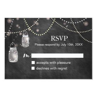 """Tarjetas de RSVP de la pizarra del tarro de Invitación 3.5"""" X 5"""""""