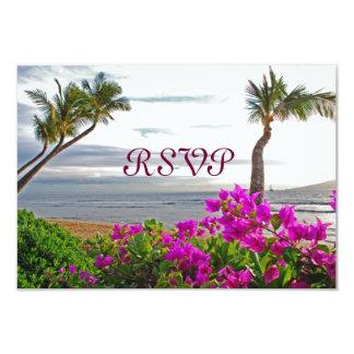 Tarjetas de RSVP de la playa de Maui Comunicado