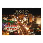 Tarjetas de RSVP de la tira de Las Vegas Comunicados Personalizados