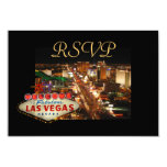 Tarjetas de RSVP de la tira de Las Vegas Invitación 8,9 X 12,7 Cm