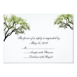 """Tarjetas de RSVP de los árboles de la primavera Invitación 3.5"""" X 5"""""""