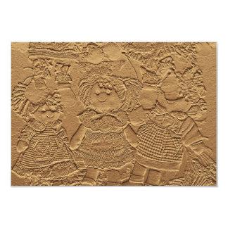 Tarjetas de RSVP del aniversario de boda de oro Invitación 8,9 X 12,7 Cm