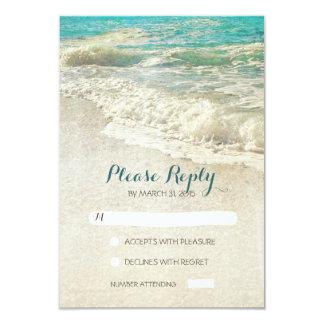 """tarjetas de RSVP del boda de playa del vintage Invitación 3.5"""" X 5"""""""