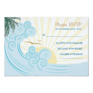 Tarjetas de RSVP del boda de playa Invitación 8,9 X 12,7 Cm