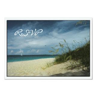 Tarjetas de RSVP del boda de playa Comunicados