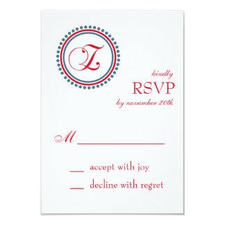 Tarjetas de RSVP del círculo del punto del Invitación Personalizada