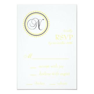 Tarjetas de RSVP del círculo del punto del Invitación