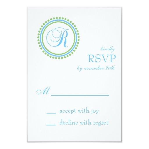 Tarjetas de RSVP del círculo del punto del Invitacion Personal
