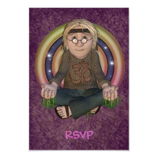"""Tarjetas de RSVP del fiesta del hippy Invitación 3.5"""" X 5"""""""