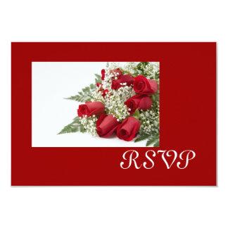 """Tarjetas de RSVP del ramo de los rosas rojos Invitación 3.5"""" X 5"""""""