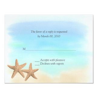 Tarjetas de RSVP del tema de la playa Invitacion Personal