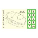 tarjetas de sacador cortadas bocadillo tarjetas de visita