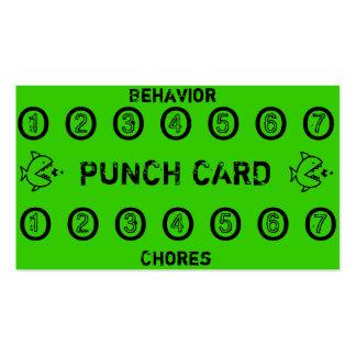 Tarjetas de sacador de la tarea de los niños tarjetas de visita