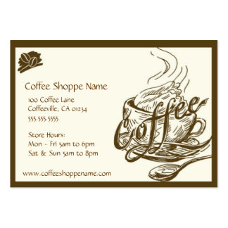 Tarjetas de sacador del Shoppe del café del Tarjetas De Visita Grandes