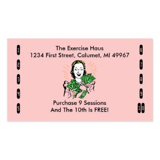 Tarjetas de sacador retras del negocio cualquier tarjetas de visita