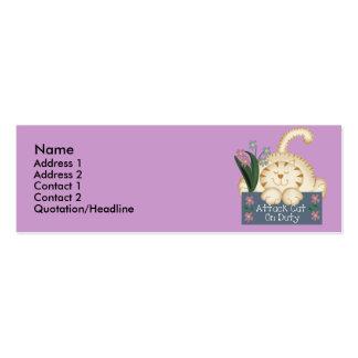 Tarjetas de servicio del perfil del gato del ataqu plantilla de tarjeta personal