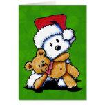 Tarjetas de Teddybear Westie del navidad