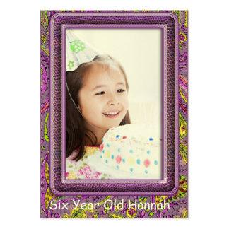 Tarjetas de una de los años de los chicas foto del tarjetas de visita grandes