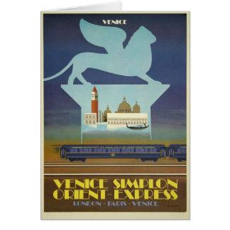 Tarjetas de Venecia Simplon (expreso de Oriente)