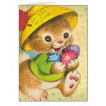 Tarjetas de Vinage pascua para los niños