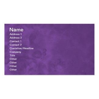 Tarjetas de visita abstractas brumosas púrpuras 00