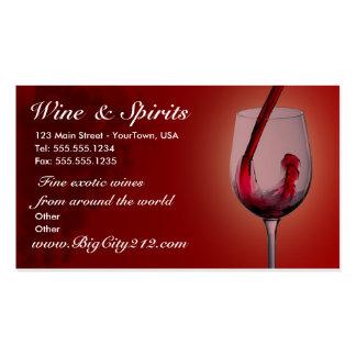 Tarjetas de visita ADAPTABLES de la tienda de vino