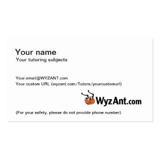 Tarjetas de visita adaptables de WyzAnt