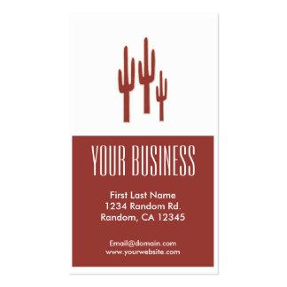 Tarjetas de visita adaptables del cactus rojo