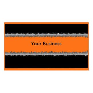 Tarjetas de visita adaptables negras anaranjadas