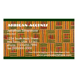 Tarjetas de visita africanas