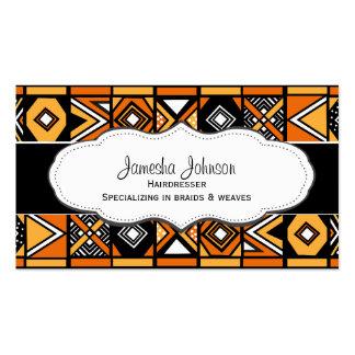 Tarjetas de visita africanas del modelo
