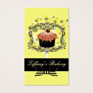 Tarjetas de visita amarillas de la panadería del