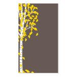 Tarjetas de visita amarillas grises del árbol de A