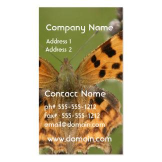 Tarjetas de visita americanas de señora Butterfly