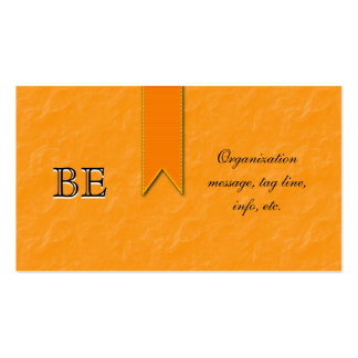 Tarjetas de visita anaranjadas de la cinta de la c