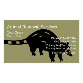 Tarjetas de visita animales del retiro