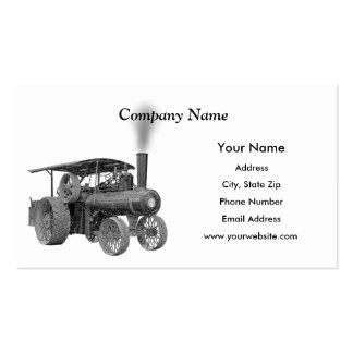 Tarjetas de visita antiguas del tractor de granja