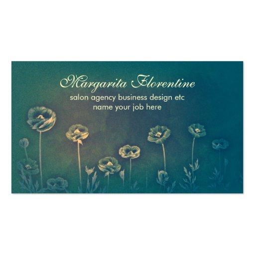 tarjetas de visita artísticas florales del diseño