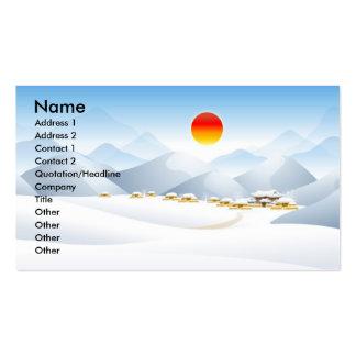Tarjetas de visita asiáticas de Sun del invierno
