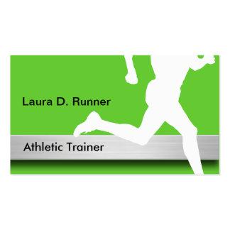 Tarjetas de visita atléticas del instructor
