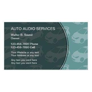 Tarjetas de visita audios autos