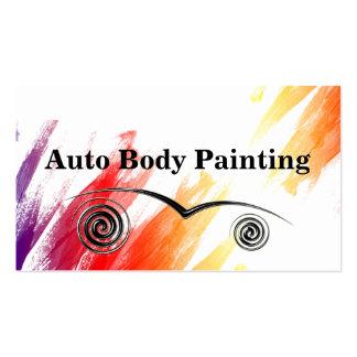 Tarjetas de visita autos de la pintura del cuerpo
