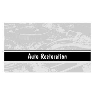 Tarjetas de visita autos de la restauración