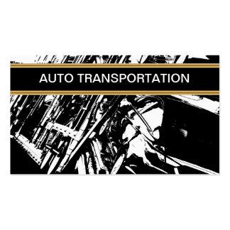 Tarjetas de visita autos del transporte