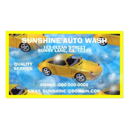 Tarjetas de visita autos personalizadas del lavado