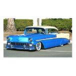 Tarjetas de visita azules clásicas del coche