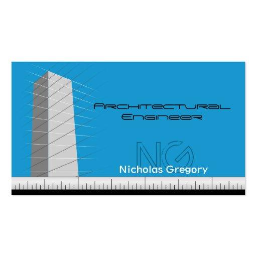Tarjetas de visita azules de la ingeniería arquite