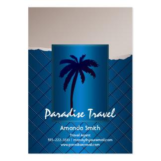 Tarjetas de visita azules de la palmera